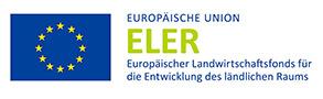 Logo: Europäische Union ELER Europaeischer Landwirtschaftsfonts für die Entwicklung des ländischen Raums